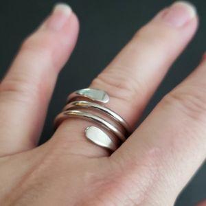 Lia Sophia silver twist ring